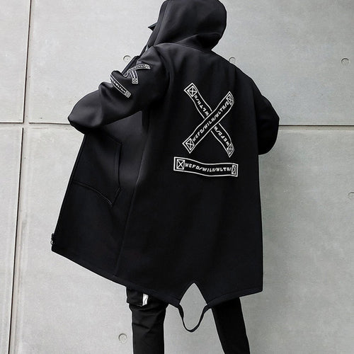 """X"" Windbreaker Jacket - Black Crown Fashion"