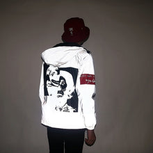 Load image into Gallery viewer, Distorted Faces Reflective Windbreaker - Black Crown Fashion