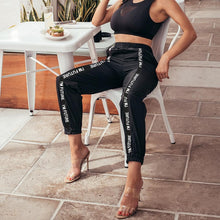 "Load image into Gallery viewer, ""I'm Future"" Women's Track Pants - Black Crown Fashion"