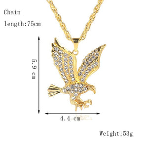 Iced Out Eagle Chain - Black Crown Fashion