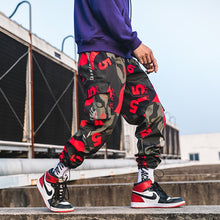 "Load image into Gallery viewer, Camo ""5"" Joggers - Black Crown Fashion"
