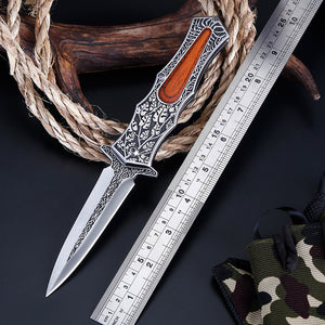 Leafy Tactical Pocket Knife - Black Crown Fashion