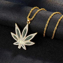 Load image into Gallery viewer, Iced Out 420 Weed Chain - Black Crown Fashion