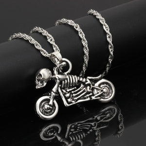 Iced Out Harley Davidson Skeleton Chain - Black Crown Fashion