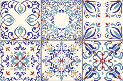 Tilevera Blue Teal Tile decals