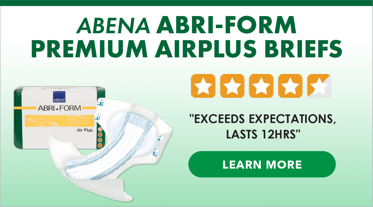 "Abena Abri-Form Premium Airplus Briefs - ""Exceeds Expectations, Last 12 hours"""