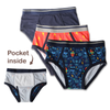Briefs-My Private Pocket Underwear for Boys - Variety 3 Pack