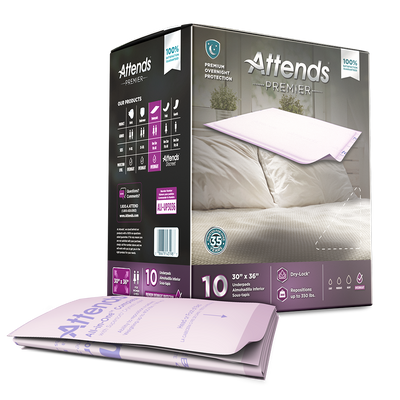 "Disposable Products-Attends Premier Underpads 30"" x 35"""