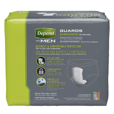 Depend Guards for Men Maximum Absorbency