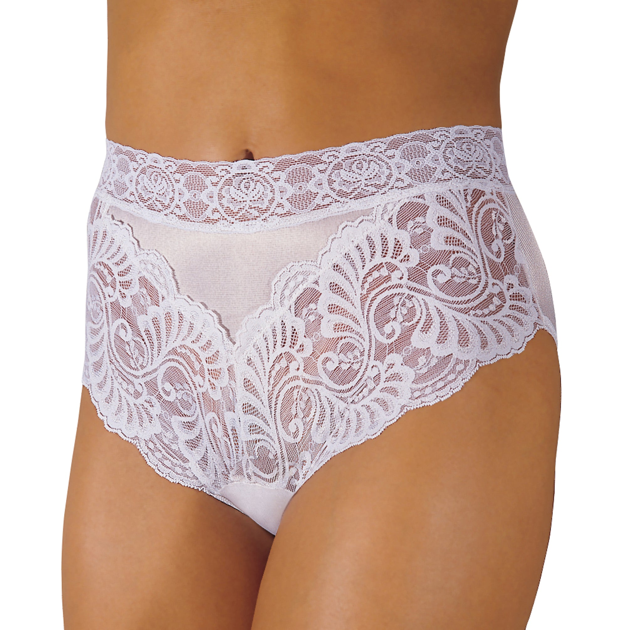 Reusable Female Lace Trim Incontinence Panty
