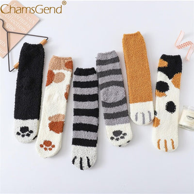 Soft Fleece Cat Warm Socks