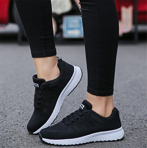 Women Mesh Flat Casual Shoes
