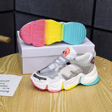 Women's Rainbow Colored Sneakers