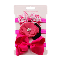 Baby Girls Flower and Bowknot Hairband [3Pcs]
