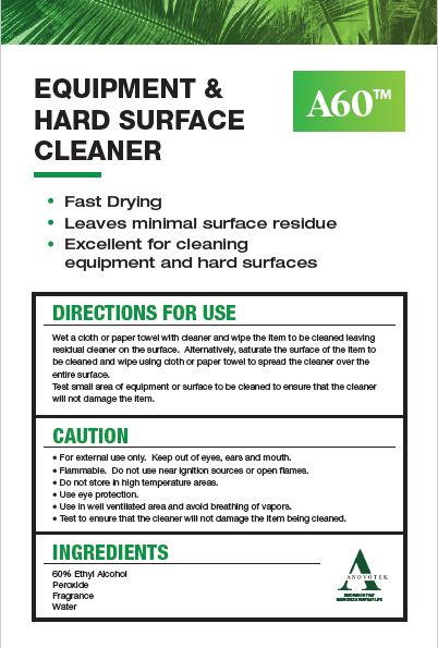 A60 Equipment and Hard Surface Cleaner