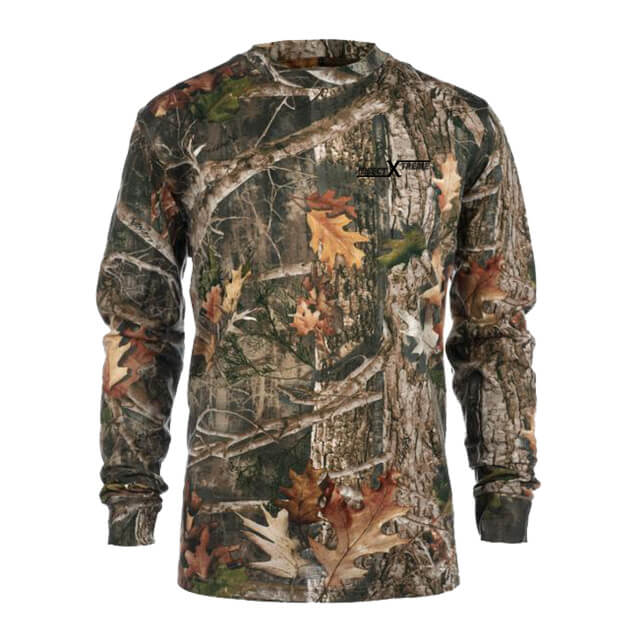 Insect Repelling Camouflage Hunting Shirt 2: Washable Long Sleeve Shirt with Embedded EPA-Approved Insect Repellent.