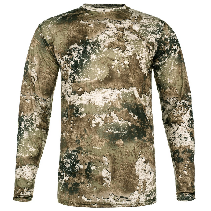 Insect Repelling Hunting Shirt - STRATA - Camo: Washable Long Sleeve Shirt with Embedded EPA-Approved Insect Repellent.