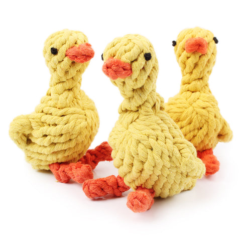Duck Shaped Braided Rope Toy