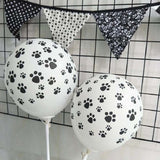 Birthday Dog Paw Prints Rubber Balloon 100pcs