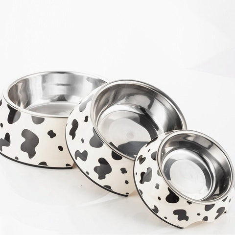 Stainless Steel Pets Bowl with Holder