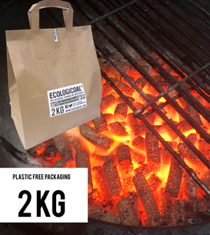Ecologicoal Charcoal - Olive Pomace Charcoal Natural Press 2 kg