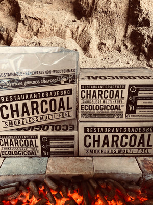 Ecologicoal Charcoal - Olive Pomace Charcoal Natural Press 8 kg
