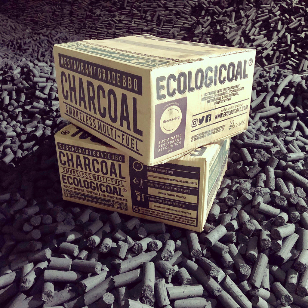 Ecologicoal Charcoal - Olive Pomace Charcoal Briquettes 10 kg