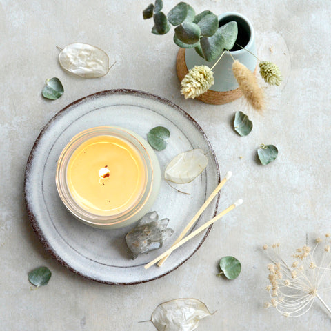aromatherapy, soy candle, organic, wellbeing blog, self care, stress awareness day