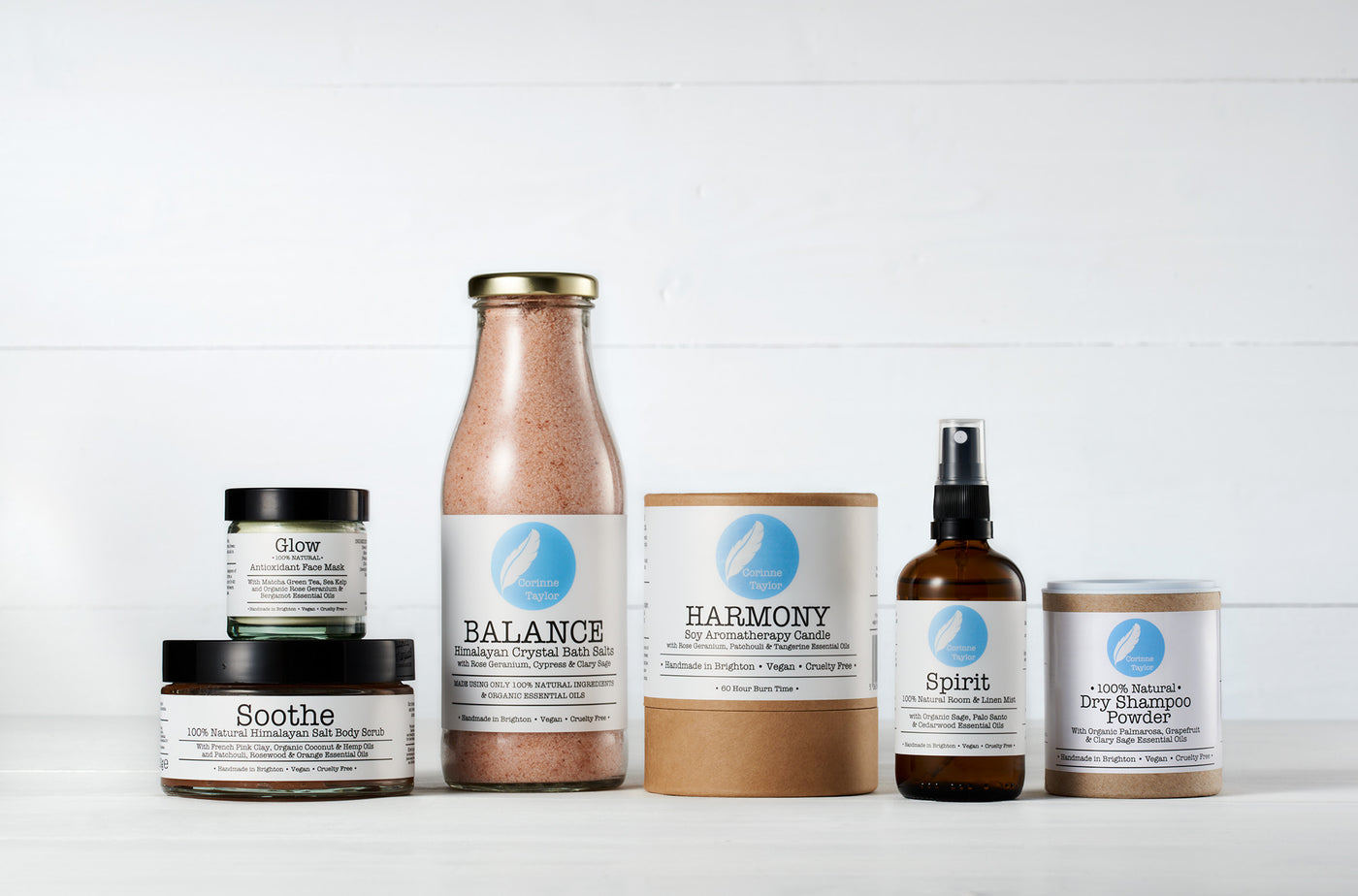 100% natural, vegan and cruelty free aromatherapy products by Corinne Taylor. Our range includes Himalayan bath salts and body scrubs, soy candles, room and linen mists, plant based skincare, hair care and luxury eco friendly gift boxes.