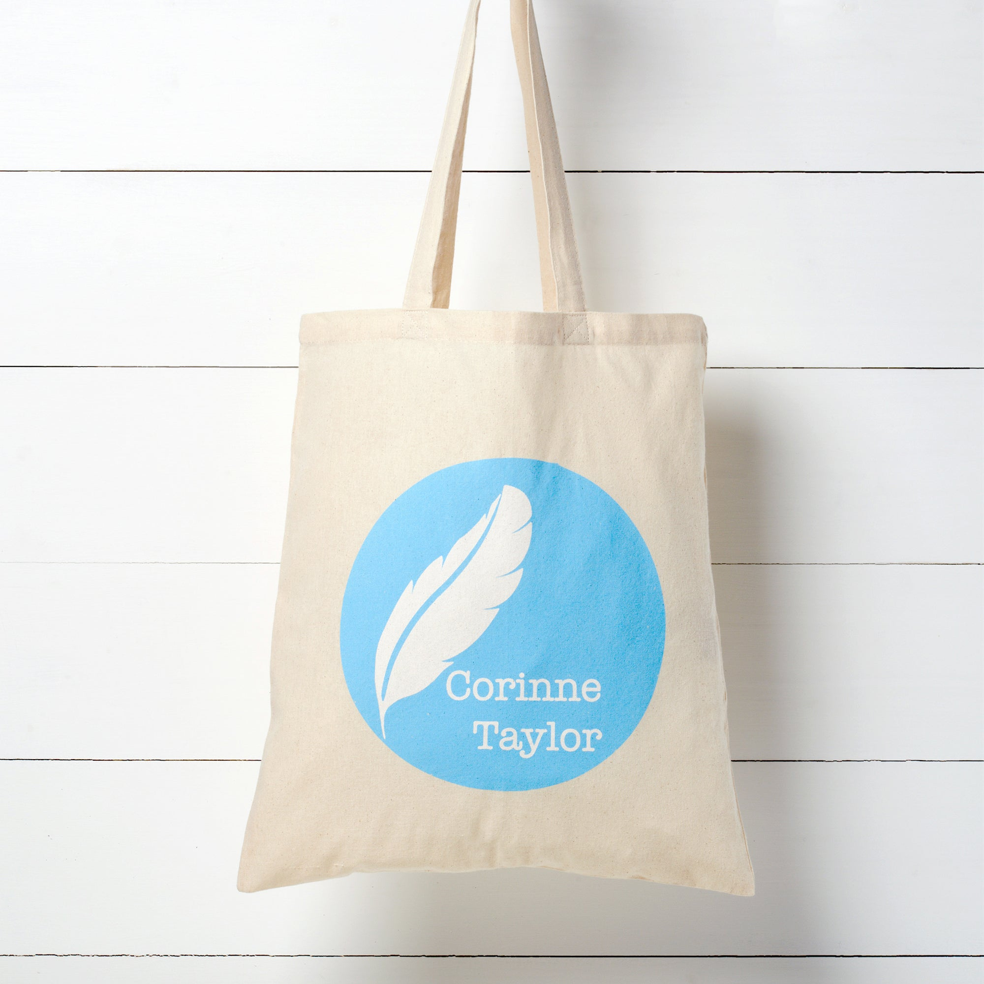 Natural Cotton Tote Bag by Corinne Taylor. Our lightweight 100% natural, eco-friendly tote bags are made from sustainable cotton and are fantastic versatile bags which are great for all uses.