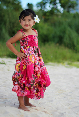 Kids Island Dress - lessmoney.com
