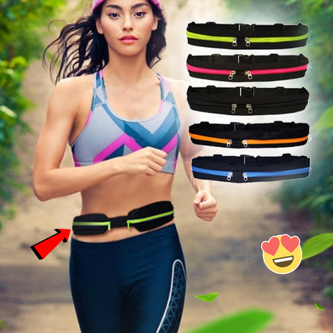 Adjustable Sports Waist Bag - Designed for Running or Travel - lessmoney.com