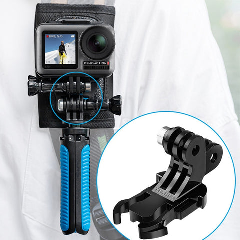 Gopro/OSMO ACTION Camera Double-Head J-Type Buckle Quick Release Backpack Belt Button Mount Buckle Clip Adapter Accessories
