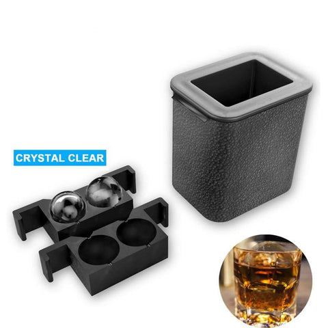 THE ICE QUBE THE 2 In 1 Crystal Clear  Silicone Ice Ball Maker