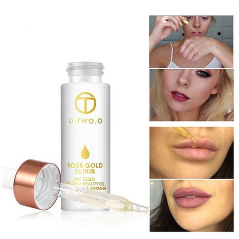 24k Gold Anti-Aging Lip Oil - lessmoney.com