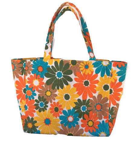 Floral Fashion Tote - lessmoney.com
