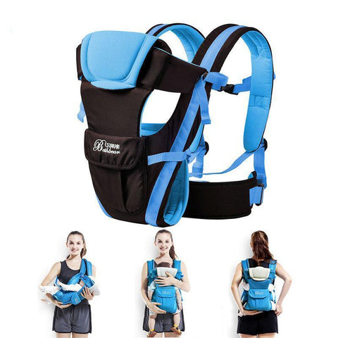 4 in 1 Front or Back Comfortable Breathable Baby Carrier - lessmoney.com