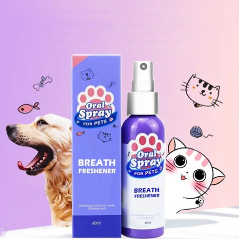 """Pet Fresh"" Dog & Cat Non-Toxic Dental Care Breath Freshener & Mouthwash Spray - lessmoney.com"