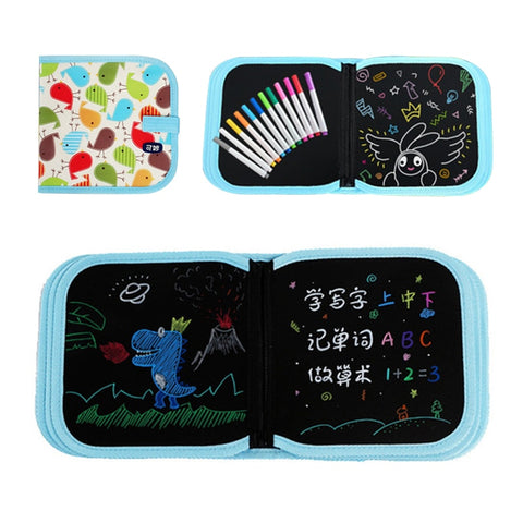👼 Cute Little Artist Portable Erasable Chalk Drawing Book (Great For Travel) - lessmoney.com