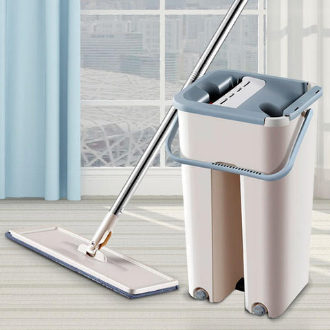 EZ-Cleanzie 360 Automatic Free-Hand Microfiber Mop - Home Floor Cleaner - lessmoney.com