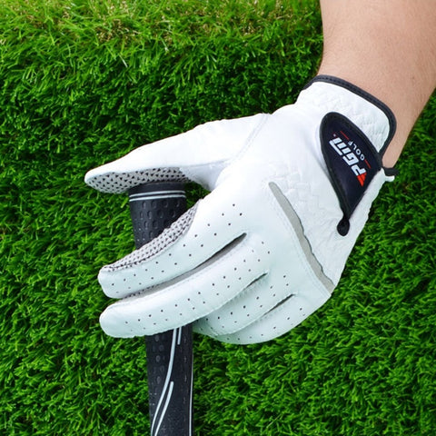 Professional Golf Gloves for Left & Right Hand - Soft Pure Sheepskin With Anti-slip Granules - lessmoney.com