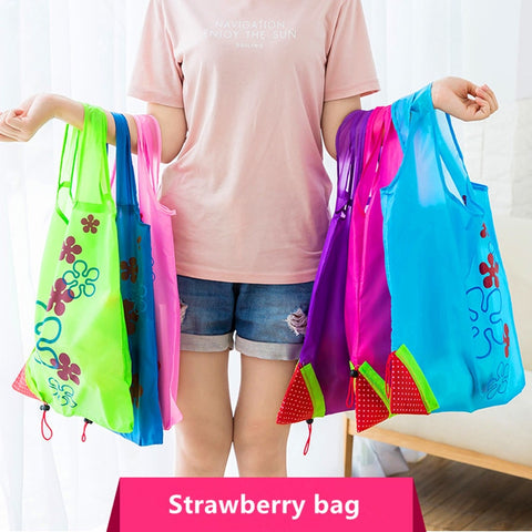 Hot Creative environmental Foldable storage Handbag - lessmoney.com