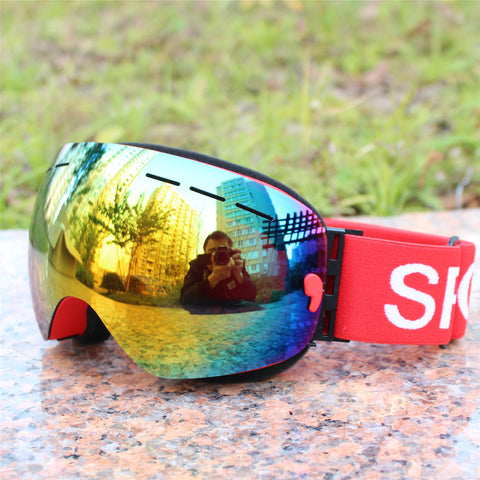 Ski goggles layer UV400 anti-fog for men and women - lessmoney.com