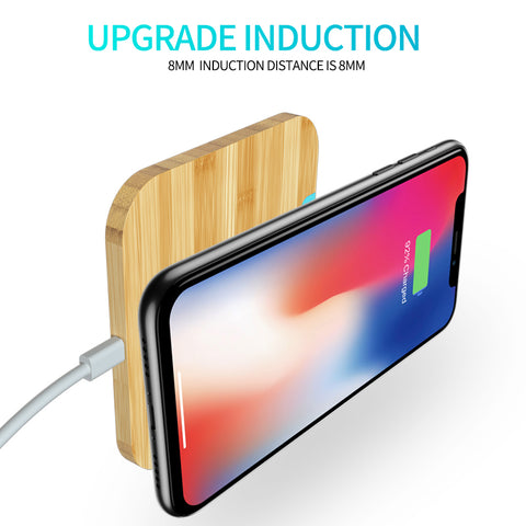 Wofalo Qi Wireless Charger Quick Charge 3.0 For iPhone X/XR/8 Plus Fast Charging Pad For Samsung Galaxy S9/S9 Plus/S8/Note 8 - lessmoney.com