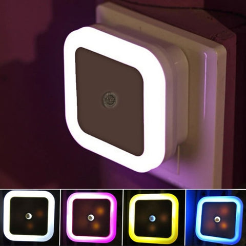 Portable Night Light Sensor With AC EU US Plug For Home,  Baby Room,  Bedroom, Desk, or Decoration Lamp - lessmoney.com