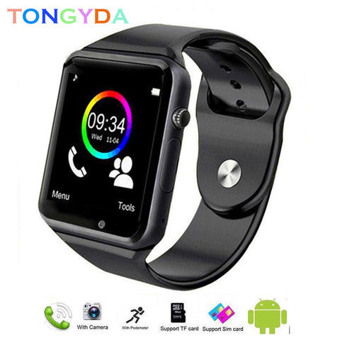 A1 Men Smart Watch Waterproof Android Bluetooth Watch SIM Card TF Sport  Smartwatch Android Waterproof with Camera Outdoor Watch - lessmoney.com