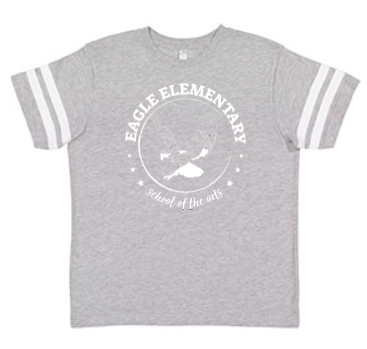 KIDS FOOTBALL TEE GREY