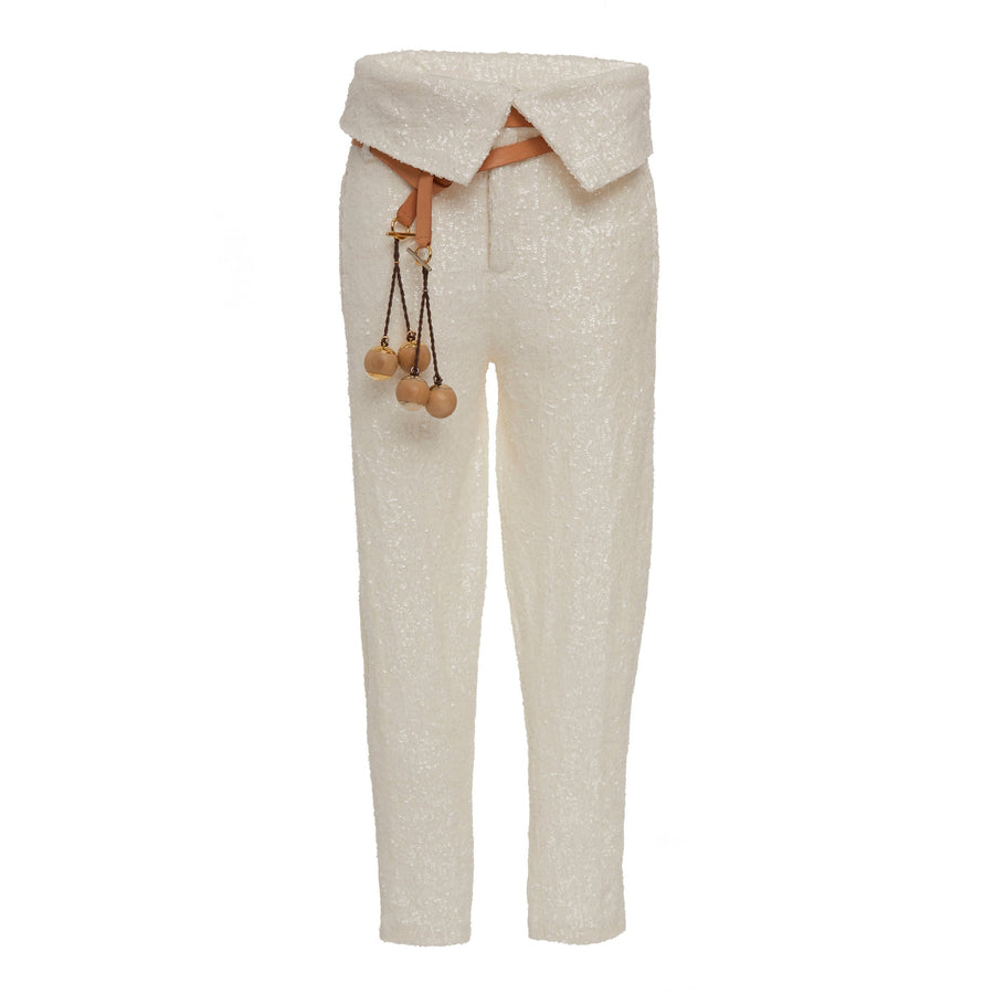 Gauchita Pants includes leather argentinian belt with exchangeable bronze buckle