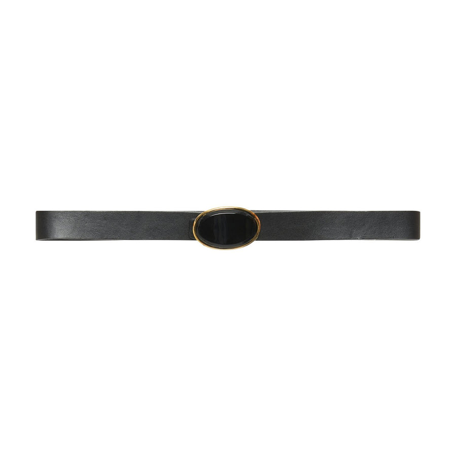 Leather Belt with Sun Buckle