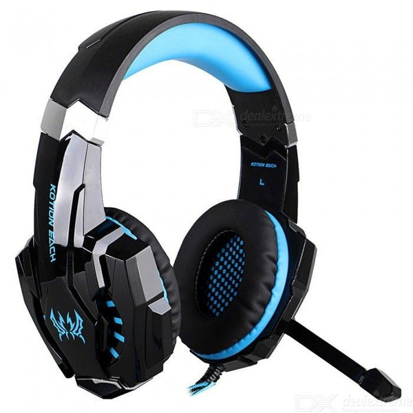 KOTION EACH G9000 7.1 Surround Sound Gaming Headset 3.5mm Computer Game Headphone With Mic LED Light For Tablet PC PS4 Black